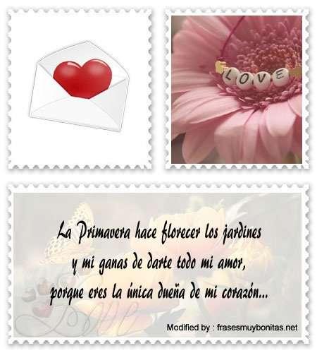 frases románticas de Primavera para Messenger