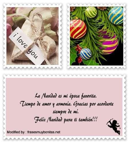 tarjetas con frases para agradecer saludos de Navidad