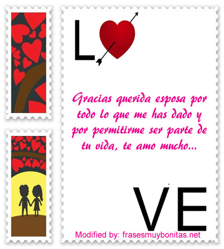 bellas dedicatorias de amor para mi esposa,muy bonitas tarjetas de amor para enviarle a mi esposa