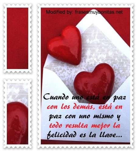 palabras bonitas de amor y paz,originales sms de amor y paz para enviar