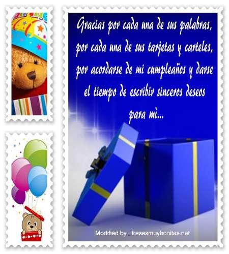 mensajes de texto de agradecimiento de cumpleaños,palabras de agradecimiento de cumpleaños