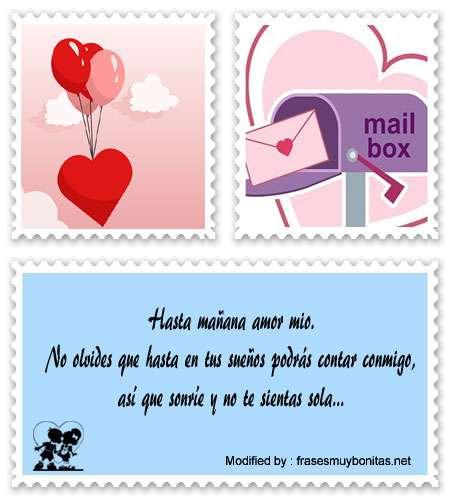 mensajes bonitos de buenas noches para mi amor