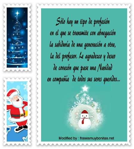 descargar frases para enviar en Navidad para un profesor