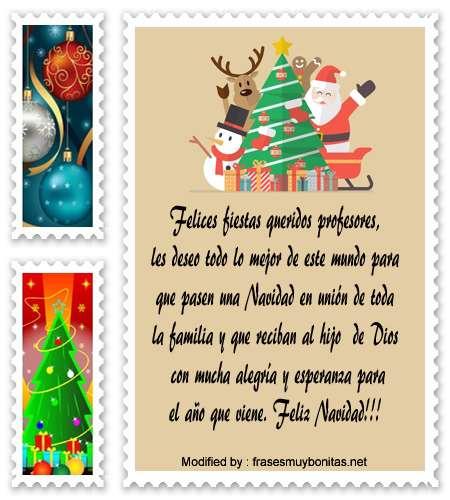 mensajes para enviar en Navidad para un profesor