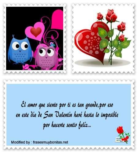bellos mensajes de San Valentín para novios
