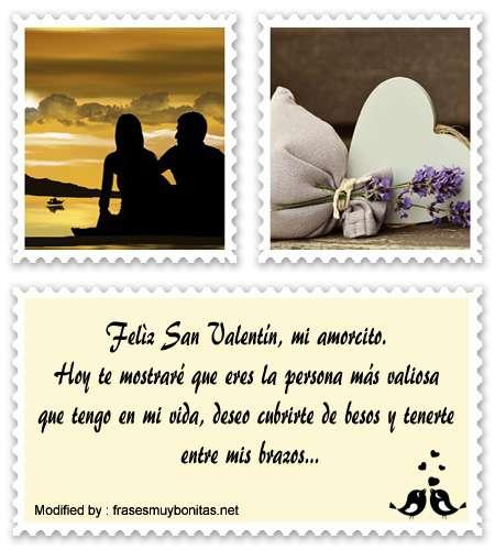 frases y mensajes románticos para San Valentin,
