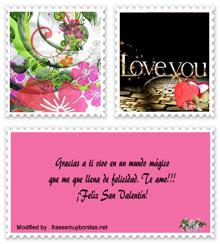 pensamientos de amor en San Valentín por Facebook