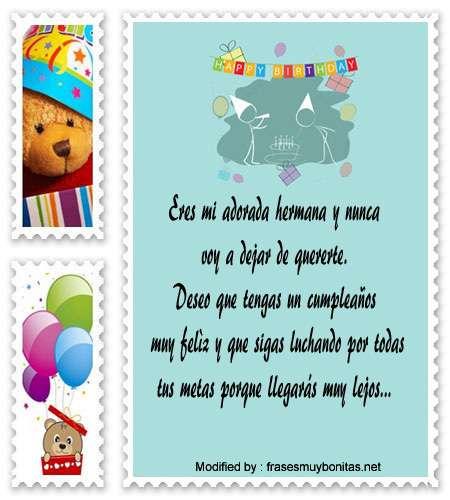 Mensajes De Cumpleaños Para Mi Hermana Frases De