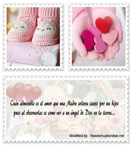 tarjetas con frases bonitas a un Mamá joven