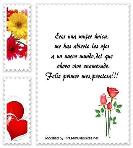 Mensajes De Aniversario 1er Mes De Enamorados Fraese De