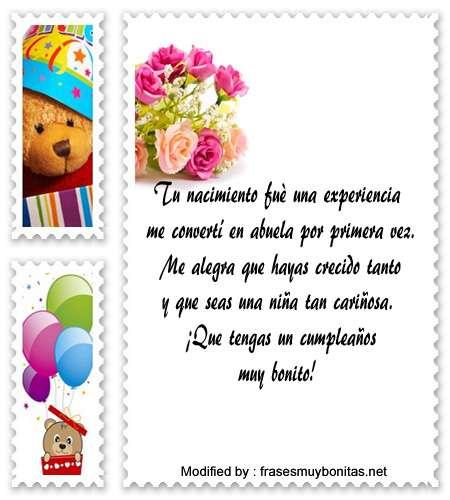 Lindos Mensajes De Cumpleaños Para Tu Nieta Saludos De
