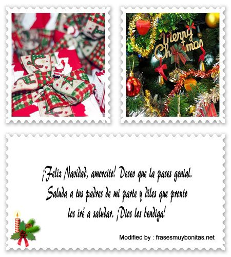 Tarjetas bonitas con dedicatorias de Navidad