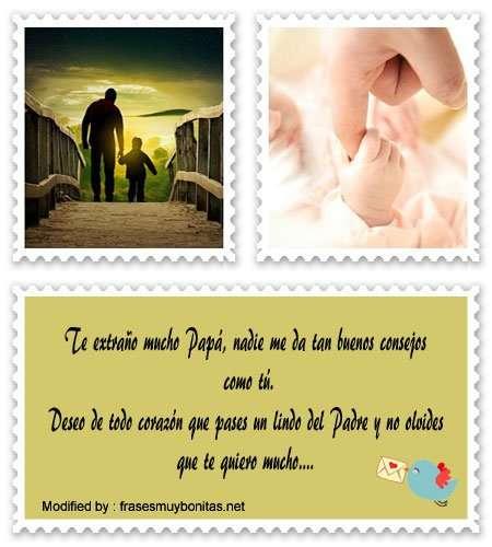 enviar mensajes para tarjetas del Día del Padre