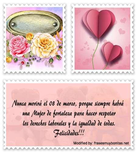 Bonitas tarjetas con dedicatorias de amor para el día de la Mujer