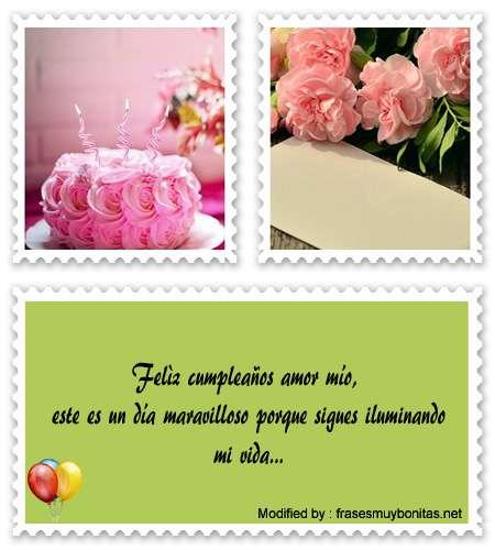 tarjetas con frases de feliz cumpleaños para mi amor