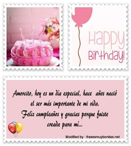 bonitas tarjetas mensajes de feliz cumpleaños para mi amor