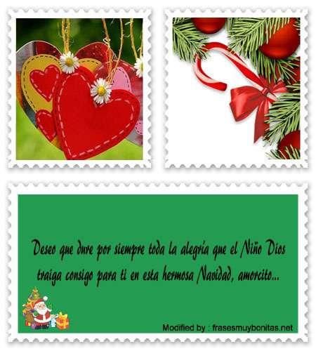 buscar dedicatorias para enviar en Navidad a mi novio