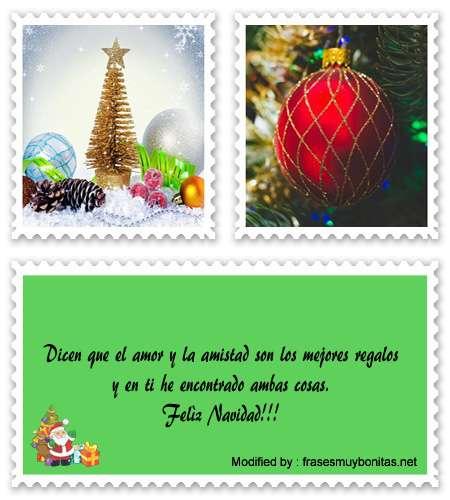 Bonitas tarjetas con frases de amor para Navidad