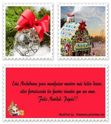 buscar bonitas frases para enviar en Navidad a mis Padres