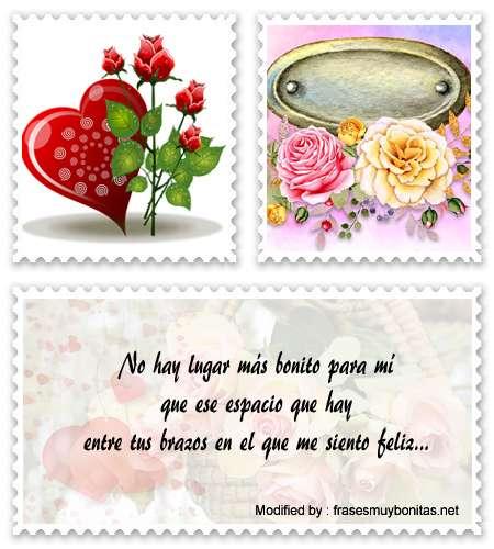 Buscar tarjetas con dedicatorias de amor para mi novia para Messenger