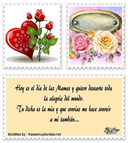 bonitas postales para felicitar el día de frases y poemas para dedicar a mamá el día de las Madres