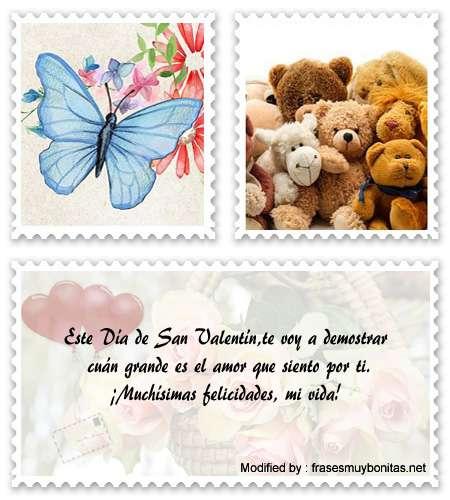 Buscar romànticas palabras por San Valentín para facebook