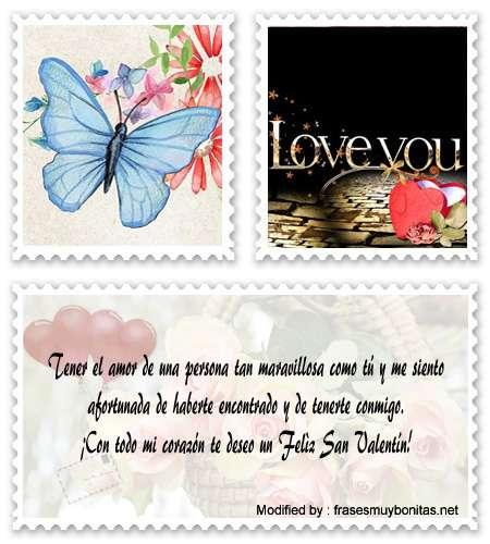 frases y mensajes románticos de feliz San Valentín para mi amor