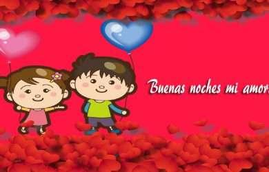 Saludos de buenas noches mi amor para dedicar por Messenger