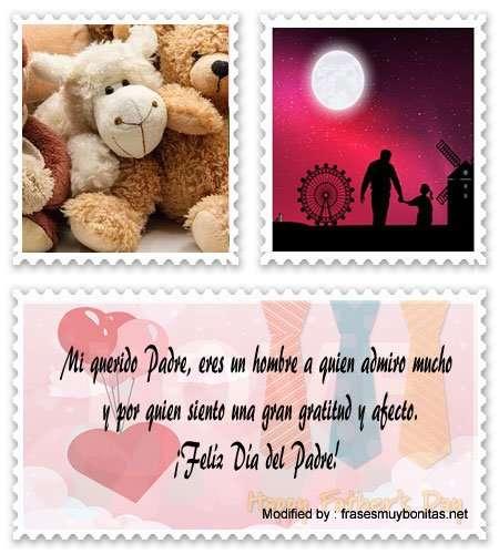 tarjetas con mensajes para Día del Padre