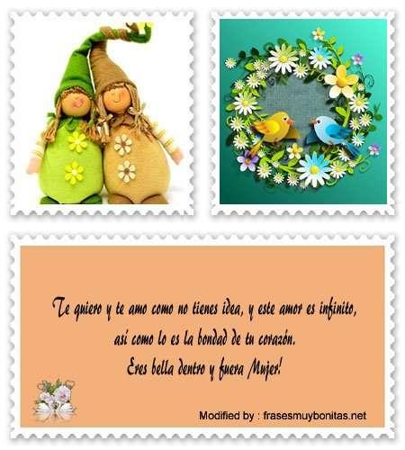 tarjetas con palabras bonitas para una mujer