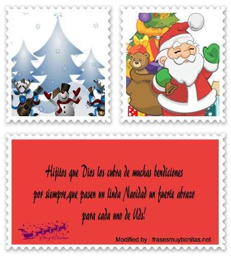 tarjetas con mensajes de Navidad para mis hijos