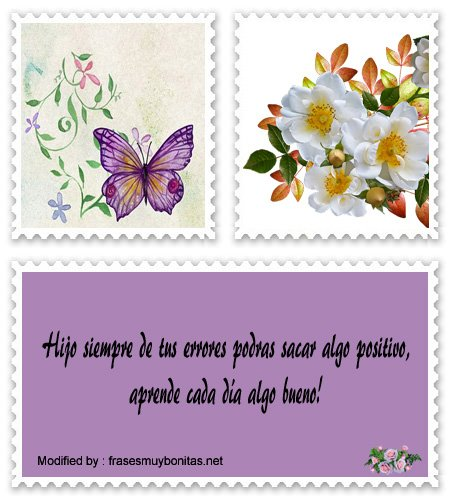 bellas palabras positivas para los hijos