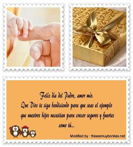 tarjetas con frases de amor por Día del Padre para mi esposo